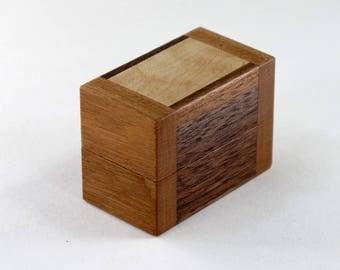 Engagement Ring Box, Walnut, Cherry, Maple Wood