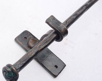 Curtain Rod Drapery Hardware - 4 Foot Rustic Forged Steel - MADE-TO-ORDER