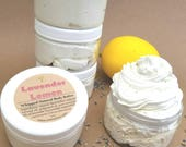 Lavender Lemon Body Butter, Natural Body Moisturizer, Whipped Body Cream, Lightly Scented Lotion, Moisturizing Body Lotion, 2 oz, 4 oz