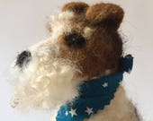 RESERVED for SOPHIE Needle Felted Wirehaired Fox Terrier dog sculpture