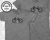 Dad Gift, Father Son Matching Shirts, Bike, Matching Shirts, Matching Dad Son, Dad Daughter Shirt, Dad Baby Shirt, Mountain Bike, Dirt Bike