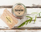 His/Hers Wedding Favor Stickers - Wedding Favors, Shower Favors - His Favorite // Her Favorite - 20 Stickers