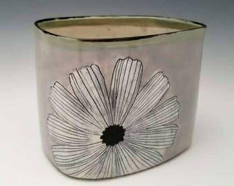 Large Ceramic Vase Modern Floral Statement Vase Chunky Vase