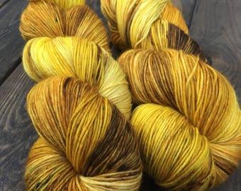 Hand Dyed Sock Yarn - Classic Sock - 75/25 Superwash Merino Wool/Nylon - 100g skein - Drumheller Badlands