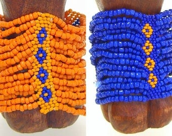 Bracelet Beaded Multi Strand Stretch Florida Colors Gator Adjustable