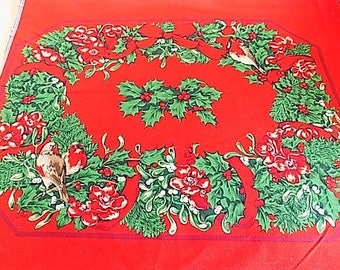 Vintage Cotton Christmas DIY Placemats - Set of 6 or 12