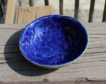 Water Scrying bowl with sunflower leaves