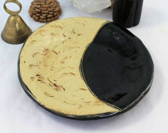 Crescent Moon Ceramic Plate