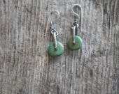 Magpie Earrings -- Turquoise Wheels