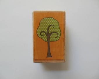 Tree Rubber Stamp - Wood Mounted Rubber Stamp
