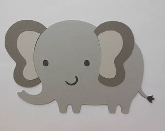 Elephant Cutout - Safari or Zoo Animal - Chid Birthday Party Decoration - Baby Shower Decorations - Gender Reveal Party Decor - Set of 1