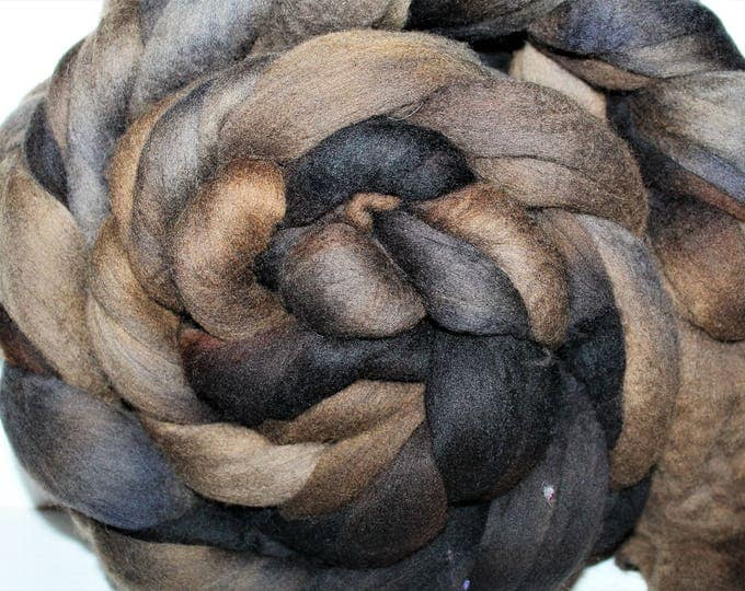 Kettle Dyed Merino Wool Top. Super fine. 19 micron  Soft and easy to spin. Huge 1lb Braid. Spin. Felt. Roving. M304
