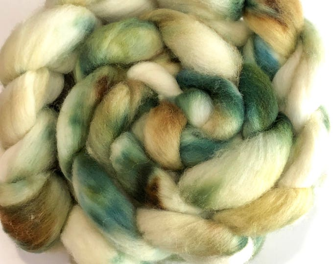 Kettle Dyed Cheviot Wool top. Roving.  Spin or felt. Soft and easy to work with. 1lb. Braid. Sloane
