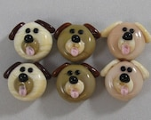 Puppy Dogs by Shot Of Glass Lampwork Beads