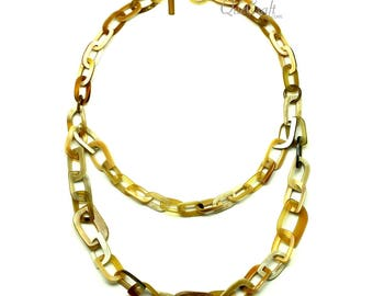 Horn Chain Necklace - Q12806