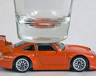 The ORIGINAL Hot Shot, Classic Hot Rods, Shot Glass, Porsche 993 GT2, Hot Wheel car