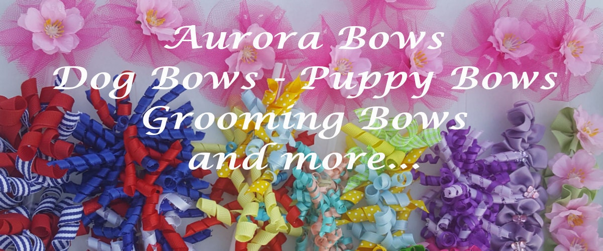 Summertime dog bows