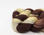 """Hand dyed sock yarn - """"Root beer Float"""" - in stock"""