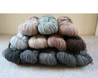 Neutrality Set of 12 skeins of Windham 100% US grown merino wool, 2640yds/2414m total