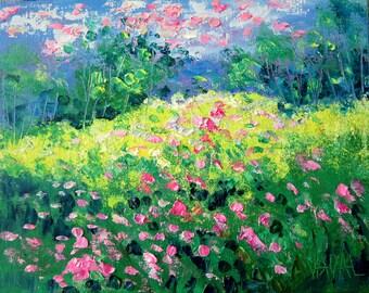 Spring  Flower Fields - Vadal -  Photo print  - 8 x 10 -Buy 2 get 1 FREE