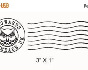 Xmas in July Hogwarts Postmark Rubber Stamp 215