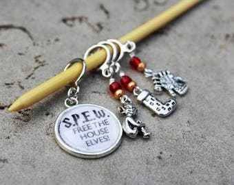 Free the House Elves - SPEW - Non-Snag Stitch Markers