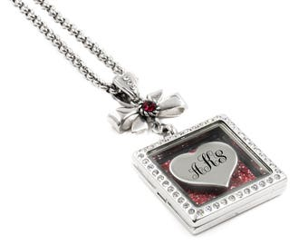 Heart Locket for the perfect romantic gift with choice of personalized engraving in stainless steel
