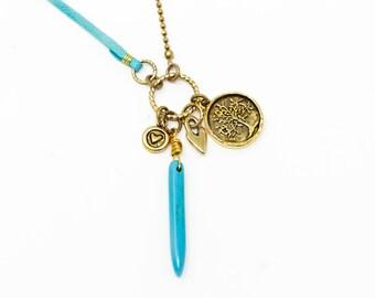 Boho Necklace - Turquoise Necklace - Boho Jewelry - Long Necklace - Turquoise Jewelry
