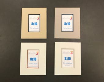 SALE! Lot of 4 Photo Mats - Readymade 8x10 Frame Size for 4x6 photos