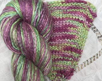 Hand Dyed Worsted weight Silk Yarn - Hellebore