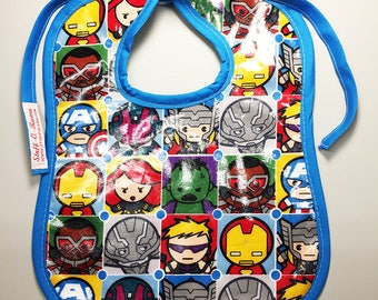 Wipeable Baby Bibs - Avengers Icons