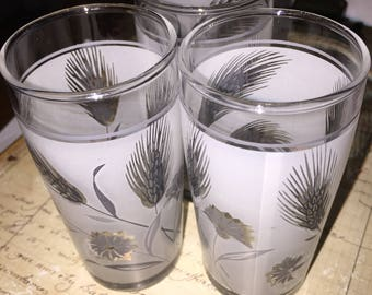 Grandma's Frosted Juice Glasses