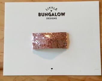 Pink Chunky Glitter Snap Hair Clips // Light Pink Glitter Snap Clip // Glitter Hair Clip // Barrette // Pink Glitter Snap Clip