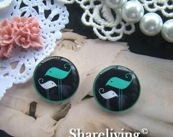 SALE - 30% OFF Buy 1 Get 1 Free - 8pcs 20mm Handmade Glass Cabochons   -- BCH510D