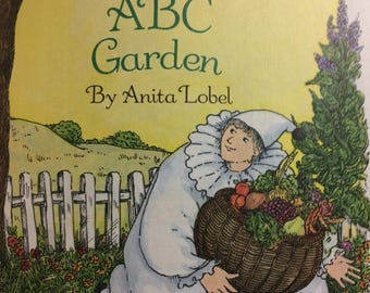 Vintage Little Golden Book Pierrot's ABC Garden by Anita Lobel Get 5 for 10 Dollars