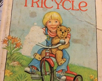 """Vintage Children's Book """"Stevie's Tricycle"""" by Pnina Moed-Kass First  Little Golden Book"""