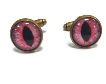 Bloodshot Red Eye Cufflinks