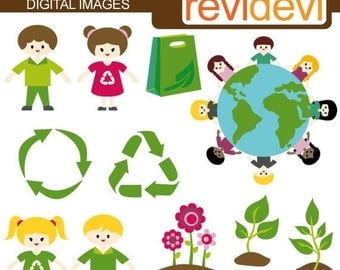 50% OFF SALE Recycle clipart / Earth day clipart / digital images / commercial use clipart