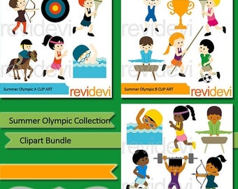 35% OFF SALE Summer Olympic clipart bundle - Olympic sport clipart - instant download, commercial use, digital images