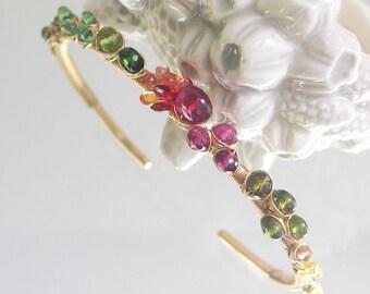 Gemstone Metal Wire Worked Jewelry Original by bellajewelsII
