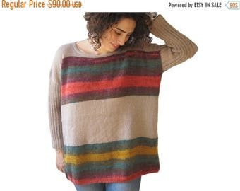 20% WINTER SALE Colourful Mohair Sweater