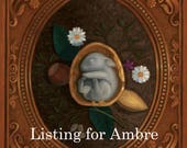 Reserved Listing for Ambre Peyrotty - please do not purchase this listing unless you are Ambre