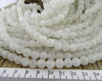 8mm Moonstone Beads, Rainbow Moonstone Gemstone Beads, White Moonstone Beads, Natural Moonstone, 7.8mm - 8.3mm Moon Stone, RB801