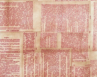 Sewing dictionary etsy studio tim holtz fabric dictionary pwth008 red free spirit 100 cotton fandeluxe Image collections