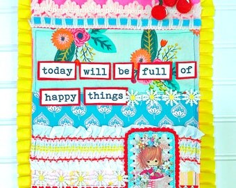 Today Will be Full of Happy Things Collection, Print #2 -- Mixed Media Wall Art