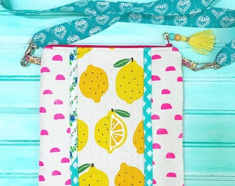 Love Lemons--Crossbody Handbag Tote Purse