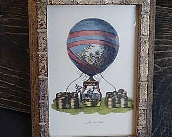 Art Print Lunardi's Hot Air Ballon Small Frame Picture