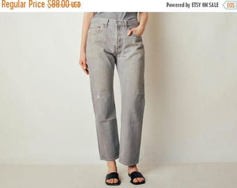 ON SALE Vintage Light Gray 501 Levis Denim Jeans (32x29)