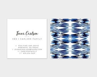 Shibori Herringbone Calling Cards | Business Cards | Blogger Cards | Set (50)
