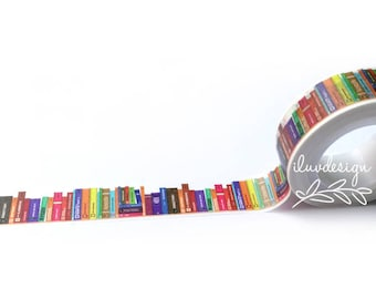 Books Washi Tape • Library Books (183019)
